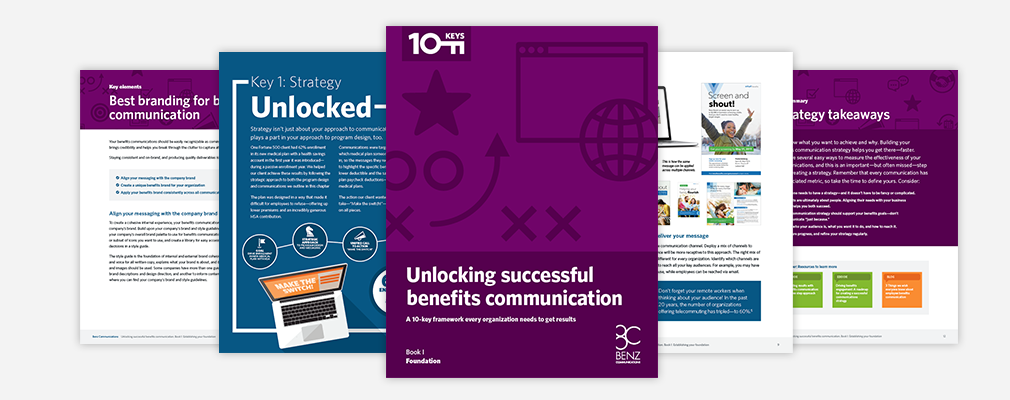 Unlocking successful benefits communication. Ebook I: Foundation