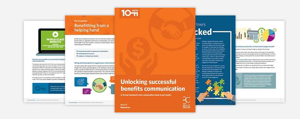Unlocking successful benefits communication. Book III: Resources